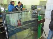 Пълнене с газ аргон на троен еднокамерен стъклопакет