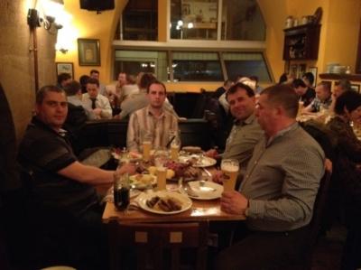 Вечеря с колеги производители с Рехау системи