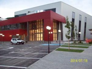 Главен вход спортна зала Рудозем