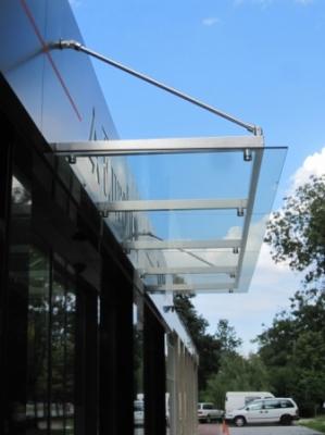 Козирка от INOX и стъкло