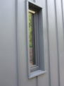 Подпрозоречен перваз и обръщане отвън