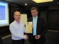 Връчване сертификати членове асоциация