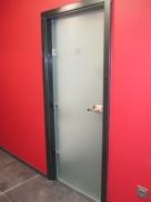 Интериорна стъклена врата